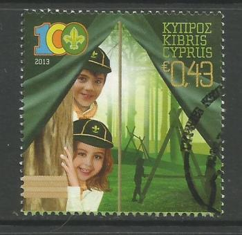 Cyprus Stamps SG 1292 2013 Cyprus Scouts Association Centenary - USED (h975)