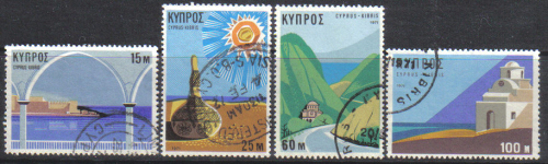 Cyprus Stamps SG 378-81 1971 Tourism - USED (d654)