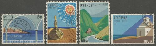 Cyprus Stamps SG 378-81 1971 Tourism - USED (h977)