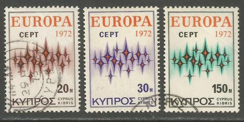 Cyprus Stamps SG 387-89 1977 Europa Communications - USED (h978)