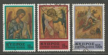 Cyprus Stamps SG 478-80 1976 Christmas - USED (h980)