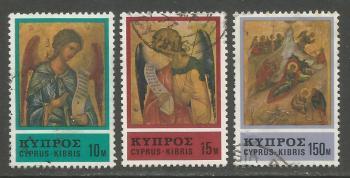 Cyprus Stamps SG 478-80 1976 Christmas - USED (h980)