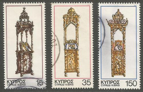 Cyprus Stamps SG 515-17 1978 Christmas - USED (h982)