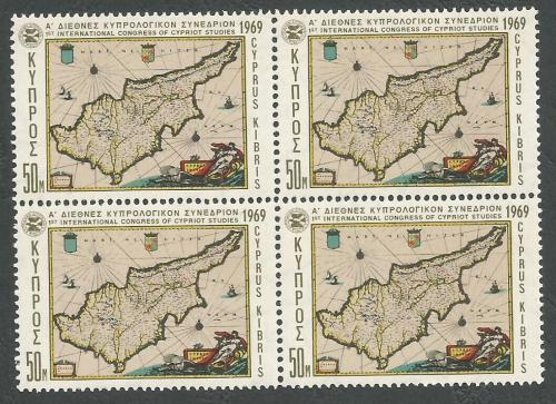 Cyprus Stamps SG 330 1969 50 Mils - Block of 4 MINT