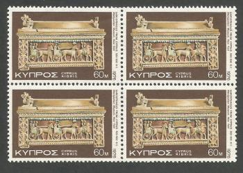 Cyprus Stamps SG 466 1976 60 mils - Block of 4 MINT