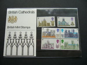 British Stamps 1969 Cathedrals Presentation pack - MINT (h993)