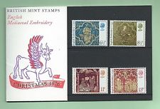 British Stamps 1976 Christmas Mediaeval Embroidery Presentation pack - MINT (h993g)