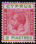 Cyprus Stamps SG 108 1924 2 Piastre King George V - MLH