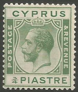 Cyprus Stamps SG 105 1924 3/4 Piastre King George V - MH