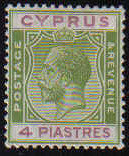 Cyprus Stamps SG 110 1924 4 Piastres - MH (k019)
