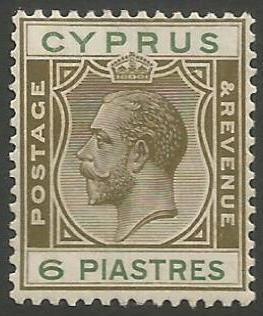 Cyprus Stamps SG 112 1924 3rd Definitives 6 Piastres - MH