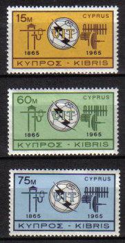 Cyprus Stamps SG 262-64 1965 Europa I.T.U. - MINT