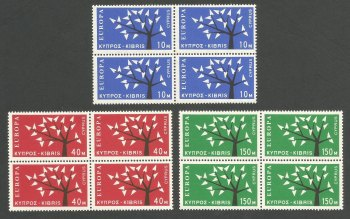 Cyprus Stamps SG 224-26 1963 Europa Tree - Block of 4 MINT