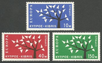 Cyprus Stamps SG 224-26 1963 Europa Tree - MINT