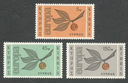Cyprus Stamps SG 267-69 1965 Europa Sprig - MLH