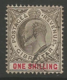 Gibraltar Stamps SG 0061 or 0061a 1906/08 Six pence - USED (K035)
