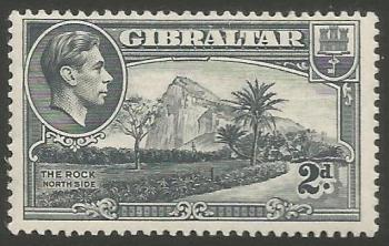 Gibraltar Stamps SG 0124a 1940 Two Penny - MINT (k047)