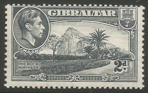 Gibraltar Stamps SG 0124b 1943 Two penny - MINT (k048)