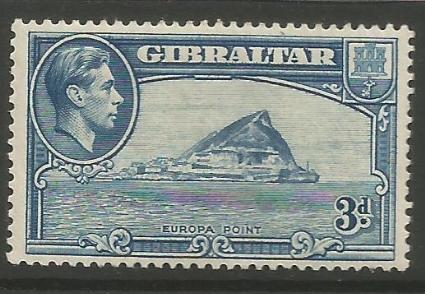 Gibraltar Stamps SG 0125 1938 Three penny - MLH (k050)