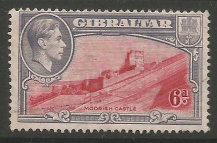 Gibraltar Stamps SG 0126 1938 Six penny - USED (k53)