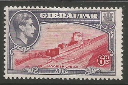 Gibraltar Stamps SG 0126b 1942 Six penny - MLH (k55)