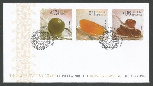 Cyprus Stamps SG 2015 (e) Cyprus Sweets - Official FDC