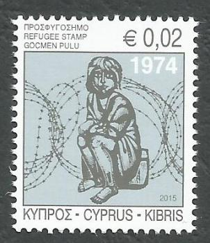 Cyprus Stamps 2015 Refugee Fund Tax - MINT