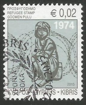 Cyprus Stamps 2015 Refugee Fund Tax - USED (k068)