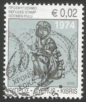 Cyprus Stamps 2015 Refugee Fund Tax - USED (k069)