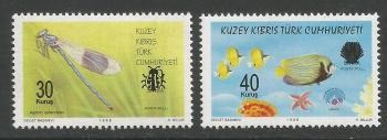 North Cyprus Stamps SG 0783-84 2014 Overprinted stamps - MINT