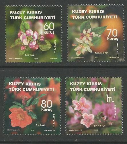 North Cyprus Stamps SG 2014 (h) Fruit Tree Flowers - MINT