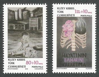 North Cyprus Stamps SG 2015 (c) Struggle with Cancer - MINT