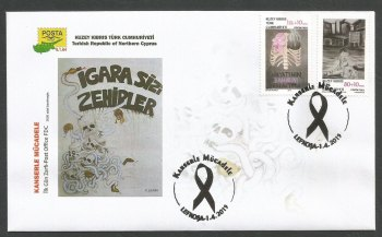 North Cyprus Stamps SG 2015 (c) Struggle with Cancer - Official FDC