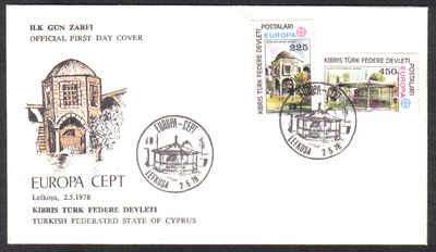 North Cyprus Stamps SG 63-64 1978 Europa - Official FDC