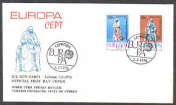 North Cyprus Stamps SG 27-28 1976 Europa - Official FDC