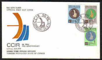 North Cyprus Stamps SG 82-84 1979 50th Anniversary of International Radio Committee - Official FDC (c375)