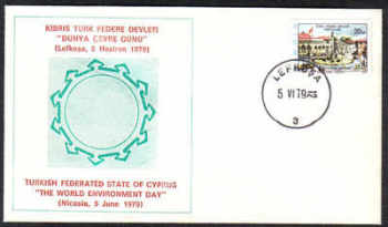 North Cyprus Stamps 1979 World Environment Day Cachet - Unofficial Cover (c370)