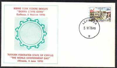 North Cyprus Stamps 1979 World Environment Day Cachet - Unofficial Cover (c