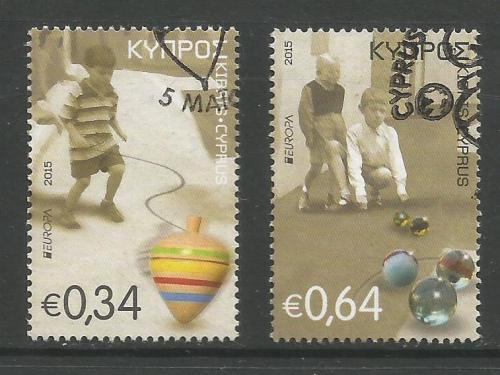Cyprus Stamps SG 2015 (f) Europa Old Toys Spinning Top and Marbles - USED (