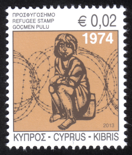 Cyprus Stamps 2013 Refugee Fund Tax - MINT