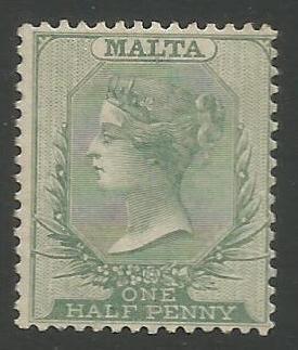 Malta Stamps SG 0020 1885 Half Penny - MLH (k097)