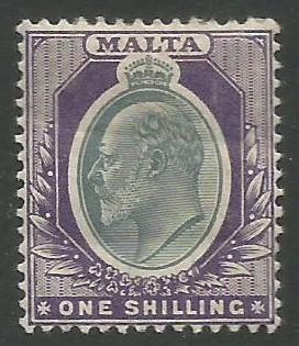 Malta Stamps SG 0044 1903 One Shilling - MH (k095)