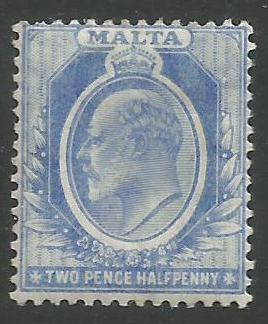Malta Stamps SG 0053 1911 Two Pence Halfpenny - MLH (k092)
