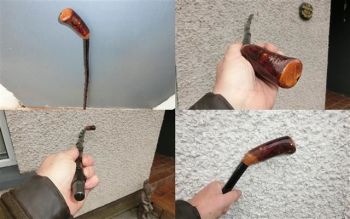 Irish blackthorn walking stick LF11