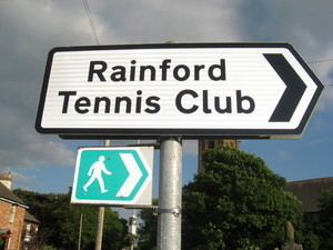 Rainford Tennis Club - Road Sign
