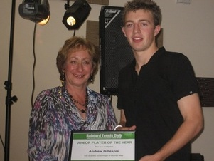 Rainford Tennis Club - 2009 Junior Player of the Year