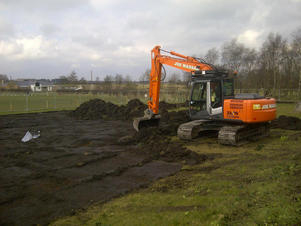 Work begins on new tennis courts in Rainford