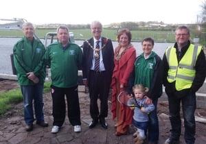 Mayor of St Helens visits Rainford Tennis Club