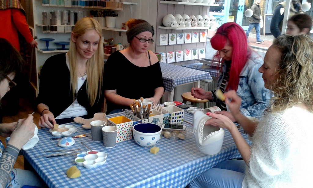 sunflower support group - pottery session