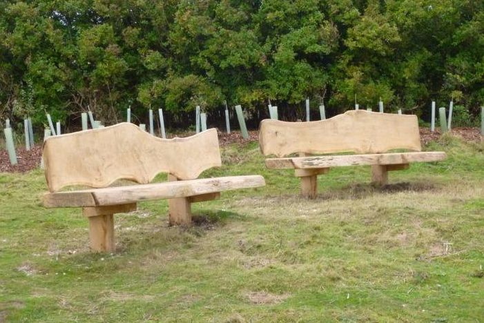 Racehill benches in memory of Colin Sayers